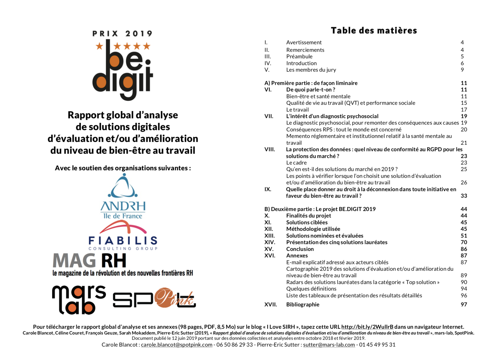 Rapport BE.DIGIT 2019